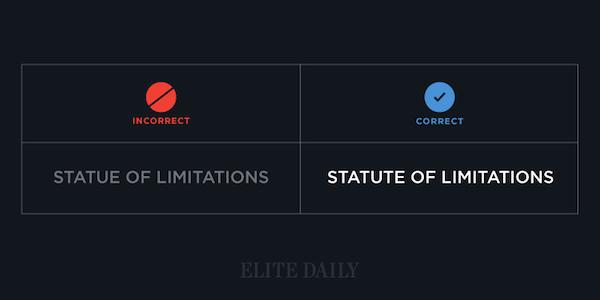 Common English phrases - Statute of limitations