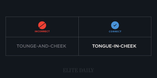 Common English phrases - Tongue-in-cheek