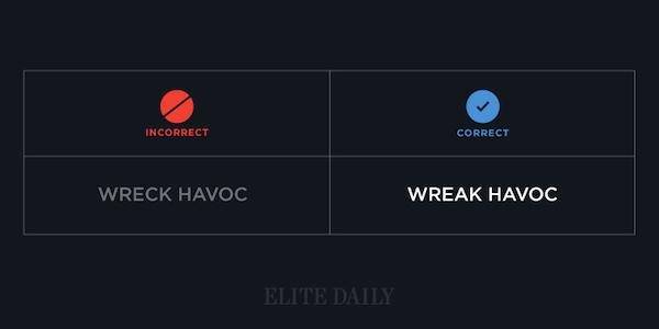Common English phrases - Wreak havoc