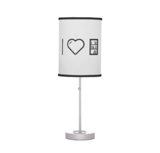"""I Love the Library"" Table Lamp"