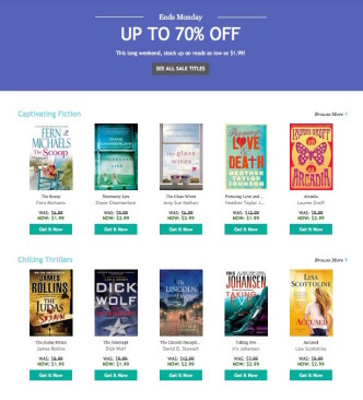 Kobo Long Weekend Sale 2015
