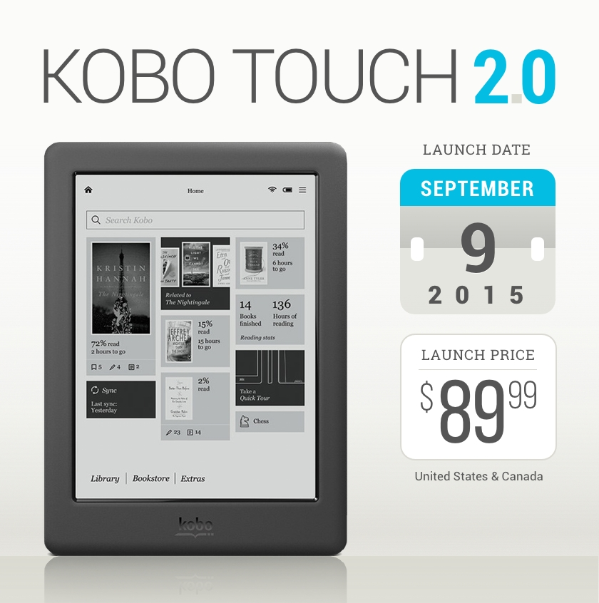 Kobo Touch 2.0 - launch details