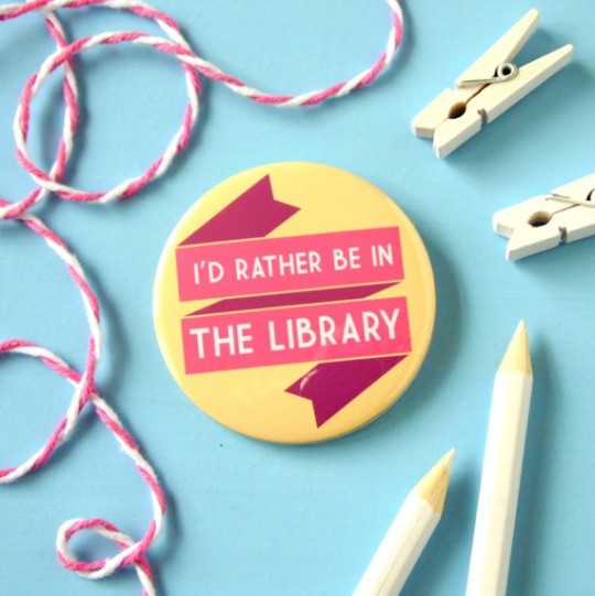 Library Book Lover's Brooch