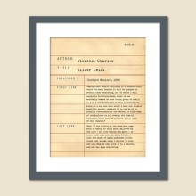 Library Card Art Print - Oliver Twist