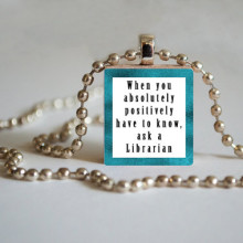 Library Tile Pendant - Ask a Librarian