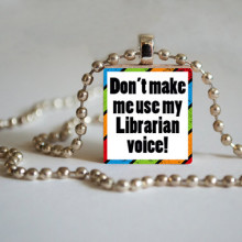 Library Tile Pendant - Librarian Voice