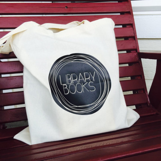 Library Tote Book Bag
