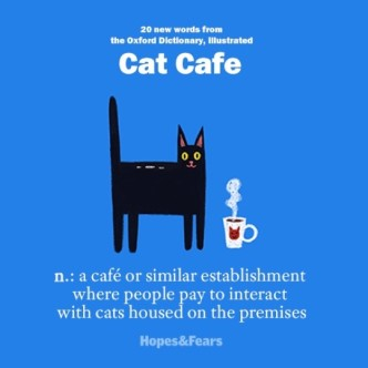 New words in the Oxford Dictionary - Cat cafe
