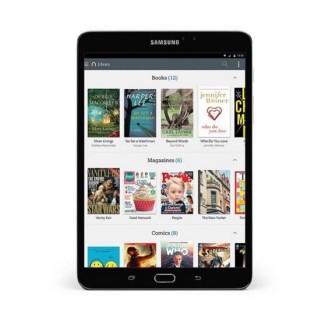 Samsung Galaxy Tab S2 Nook - book library