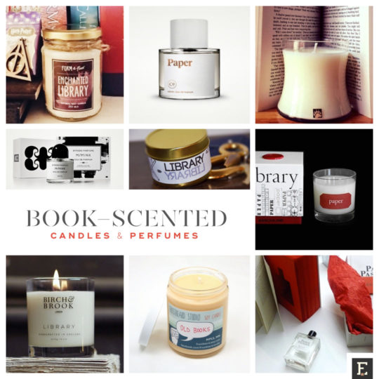 30 book-scented perfumes and candles