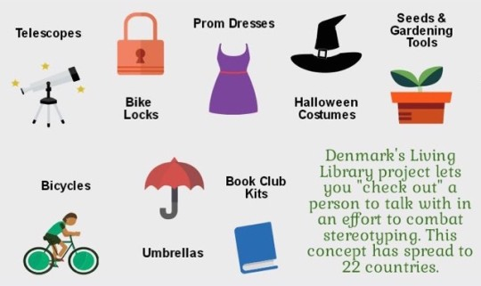 Unusual things you can borrow from libraries - prom dresses, umbrellas, or bicycles