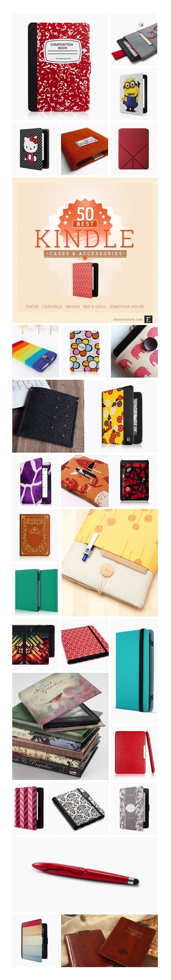 Best Kindle cases and accessories #infographic