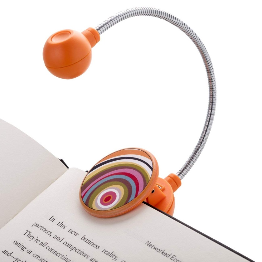 Colorful LED Book Light - best gifts for book lovers