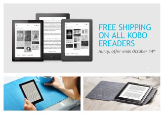 Free shipping on all Kobo devices until October 14, 2015