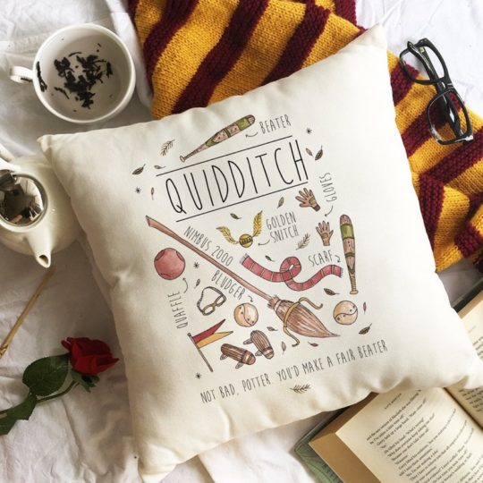 Gift ideas for book lovers - Harry Potter Throw Pillow Cover