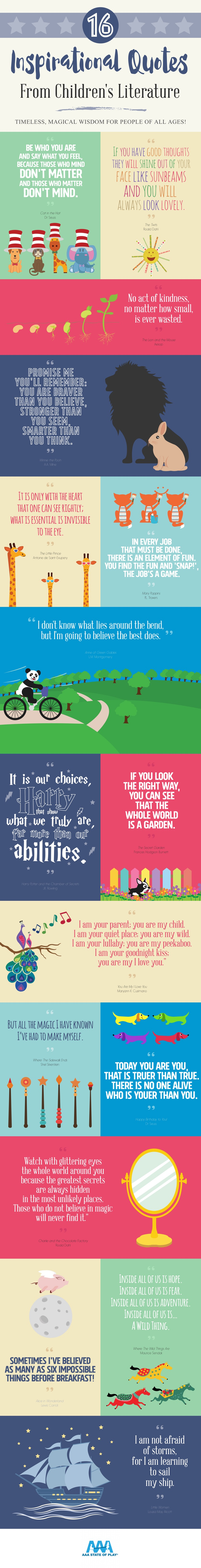 inspirational quotes from children s books infographic