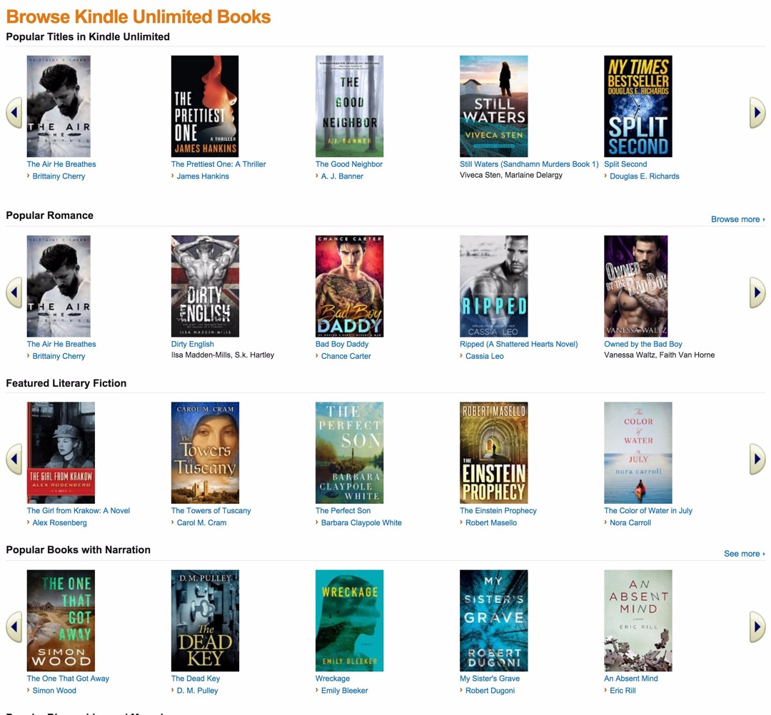 Kindle Owners' Lending Library and Kindle Unlimited - the limit on the number of books