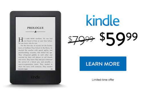 Kindle 7 sale - save $20