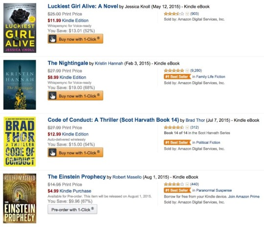 Kindle Owners' Lending Library books on search or browse pages