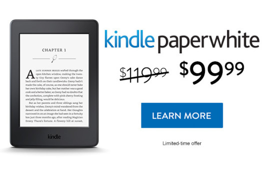 Kindle Paperwhite sale - save $20