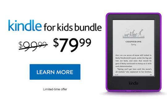 Kindle for Kids Bundle sale - save $20