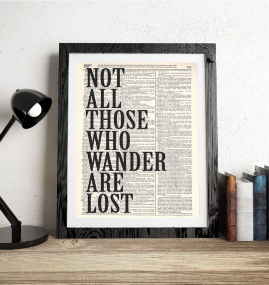 Literary posters from Vintage Book Art Co.