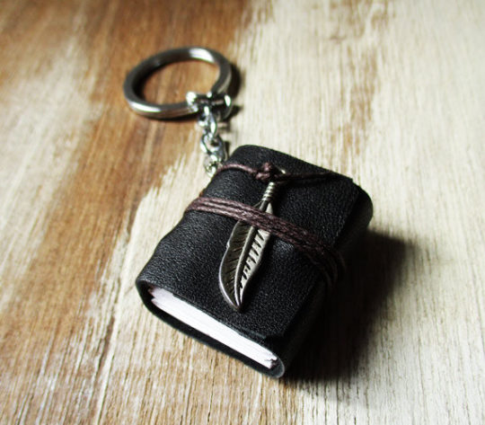 Miniature Book Key Chain