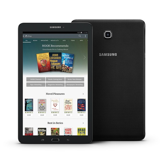 Samsung Galaxy Tab E Nook 9.6 - front and back