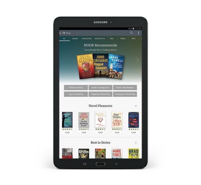 Samsung Galaxy Tab E Nook 9.6 - front