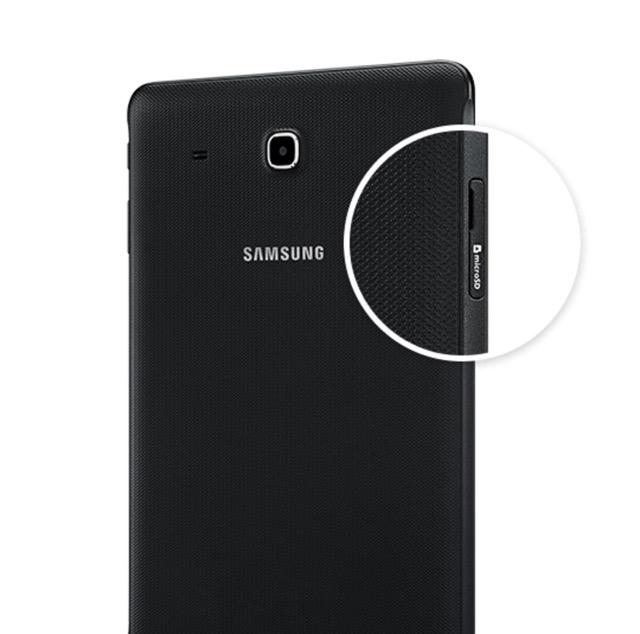 Samsung Galaxy Tab E Nook 9.6 has a microSD slot