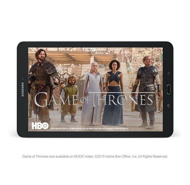 Samsung Galaxy Tab E Nook 9.6 - watching movies