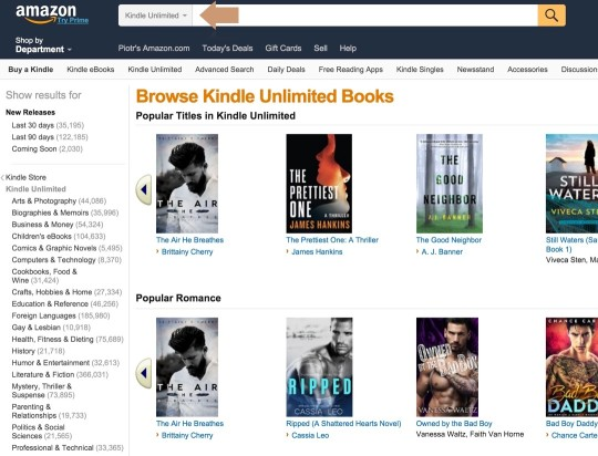 Searching for Kindle Unlimited and KOLL books - the easiest way