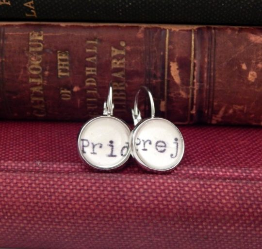 Silver Pride and Prejudice Earrings