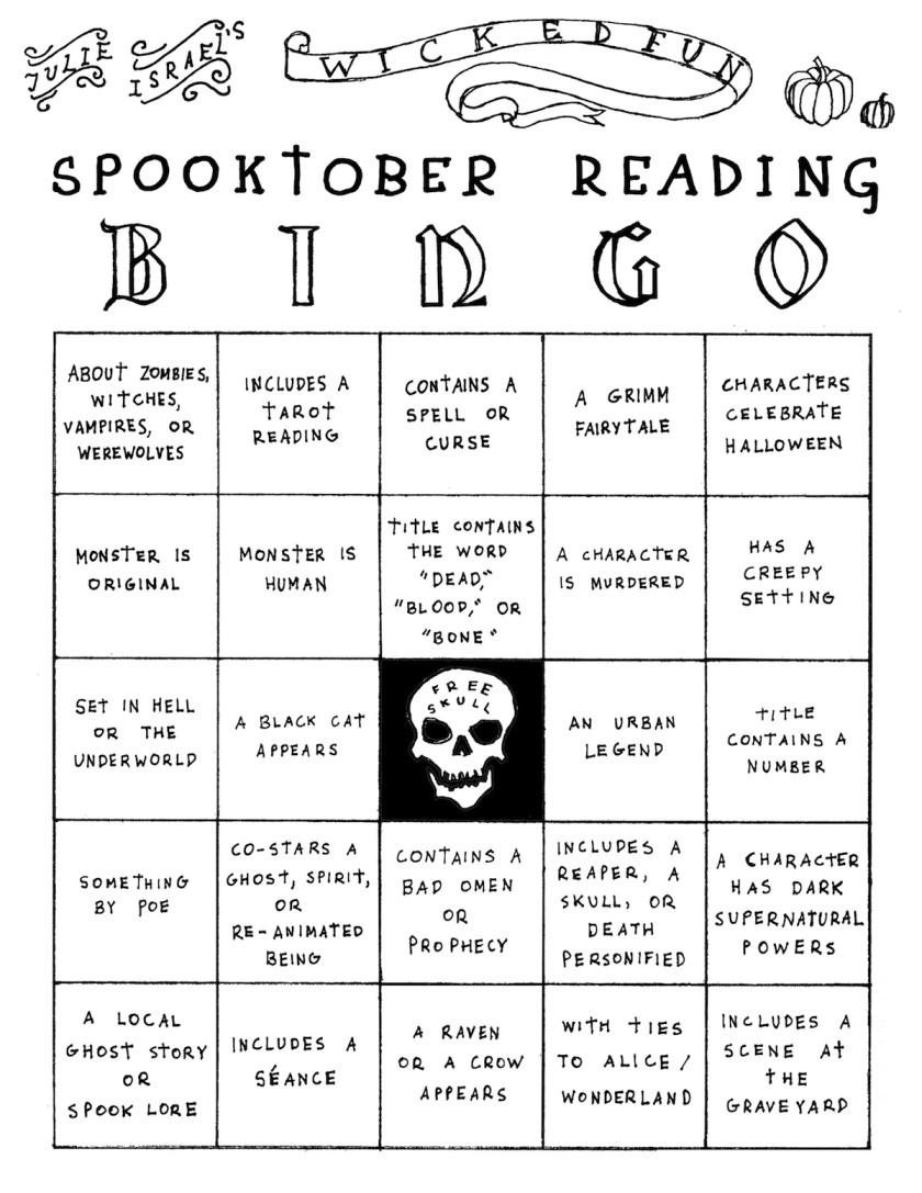 Spooktober reading bingo by Julie Israel
