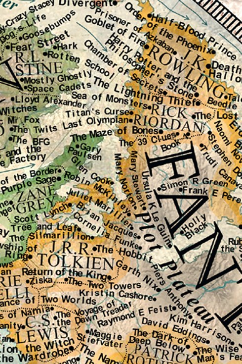 The Map of Literature - close-up 2
