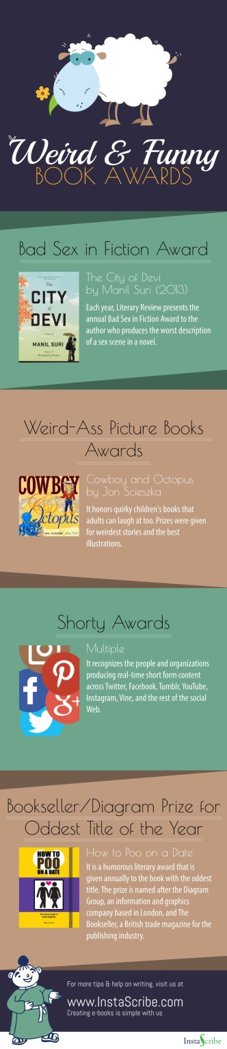 Weird and funny book awards #infographic