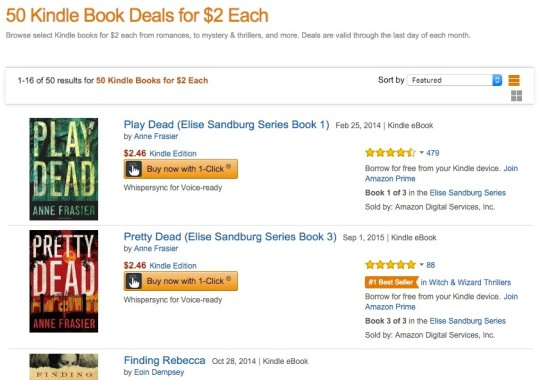 50 Kindle Book Deals for 2 Each