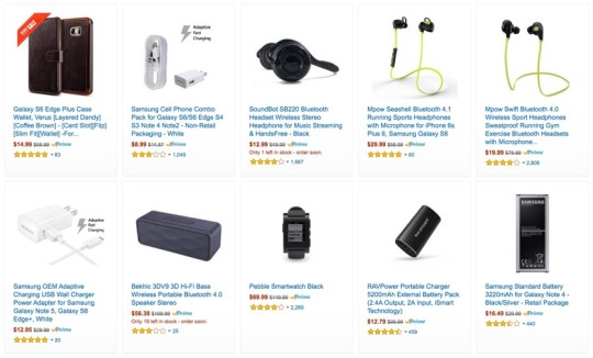 Amazon Black Friday 2015 - saveup to 40% on phone accessories