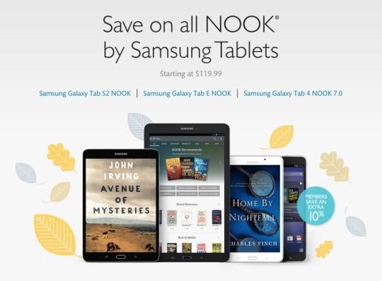 Black Friday 2015 - save on Nook tablets