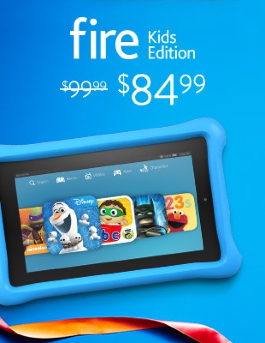 Black Friday Cyber Monday 2015 - save $15 on Amazon Fire Kids Edition