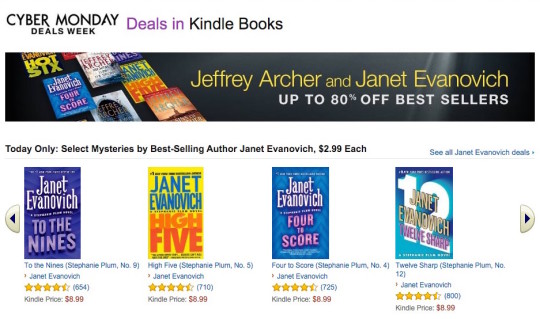 Cyber Monday 2015 Deals in Kindle Store