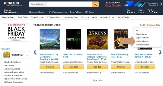 Deals on Kindle ebooks can be found on Amazon Gold Box