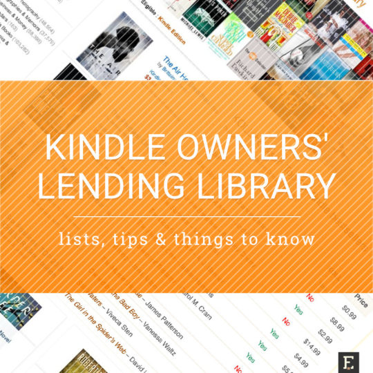 Kindle Owners' Lending Library - tips, lists, and things to know