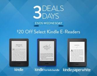 Kindle e-reader sale November 2015