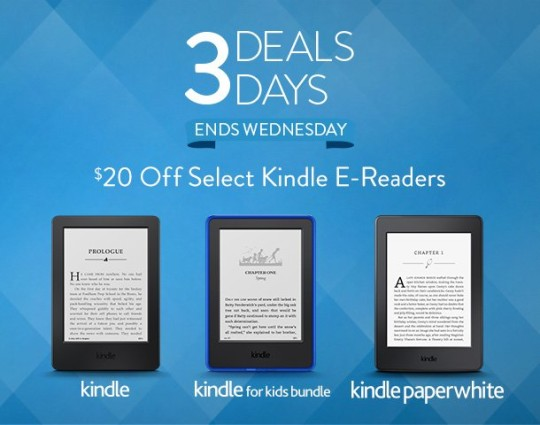 Kindle e-reader sale November 2015