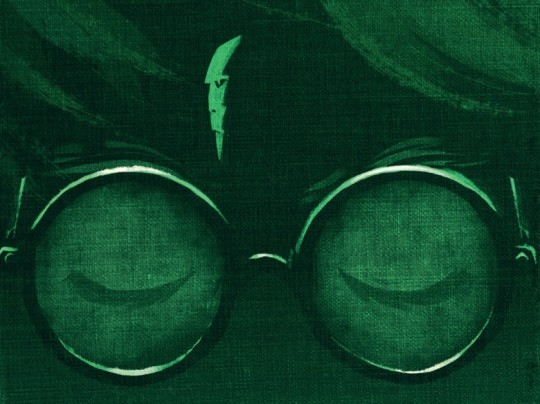 A detail of Harry Potter and the Deathly Hollows