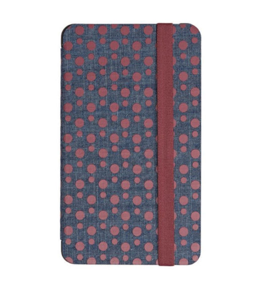 Original Nook Tablet 7 2016 Cover in Cabernet Denim Dots