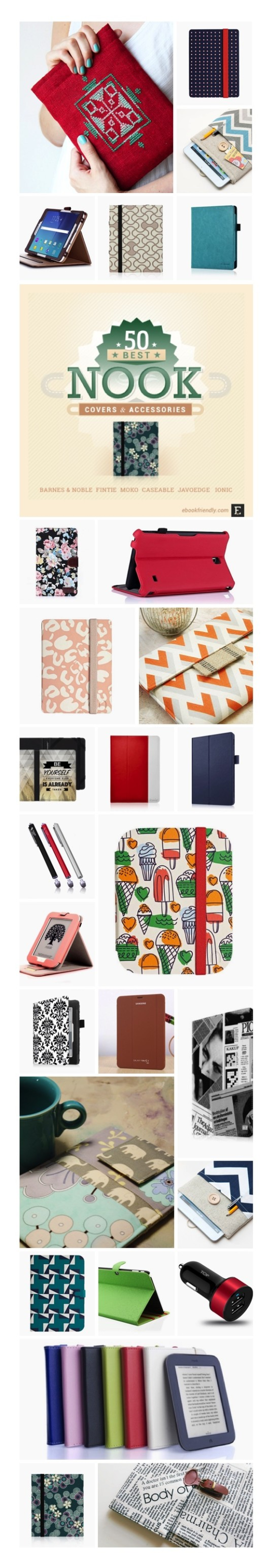 Best Nook case covers and accessories #infographic