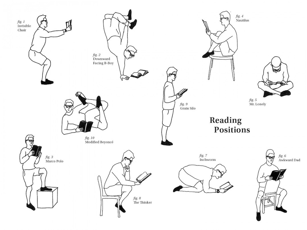 Creative reading positions - picture