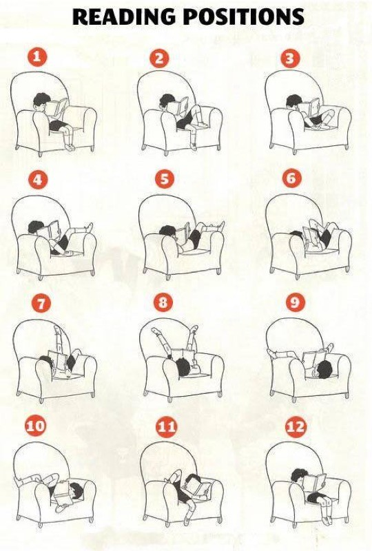 Favorite reading positions